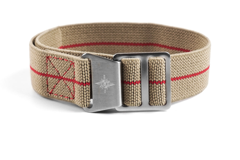Paratrooper Strap Taupe and Red