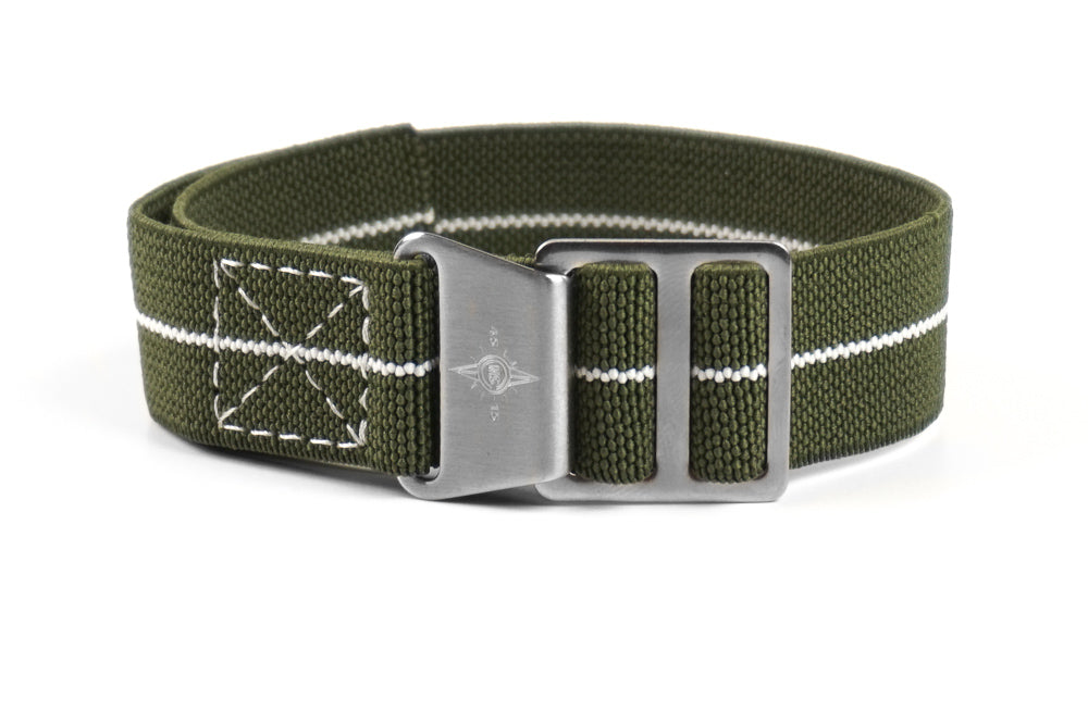 Paratrooper Strap Khaki Green and White