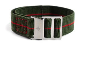 Paratrooper Strap Khaki Green and Red