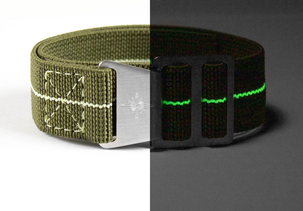 Paratrooper Strap Khaki Green and Lume