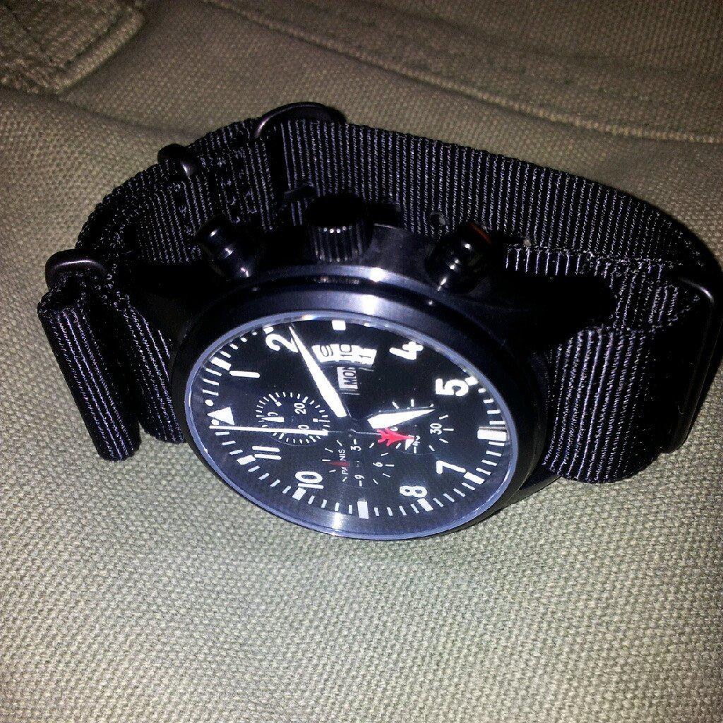Extra Long PVD NATO Strap Black - Cheapest NATO Straps  - 5