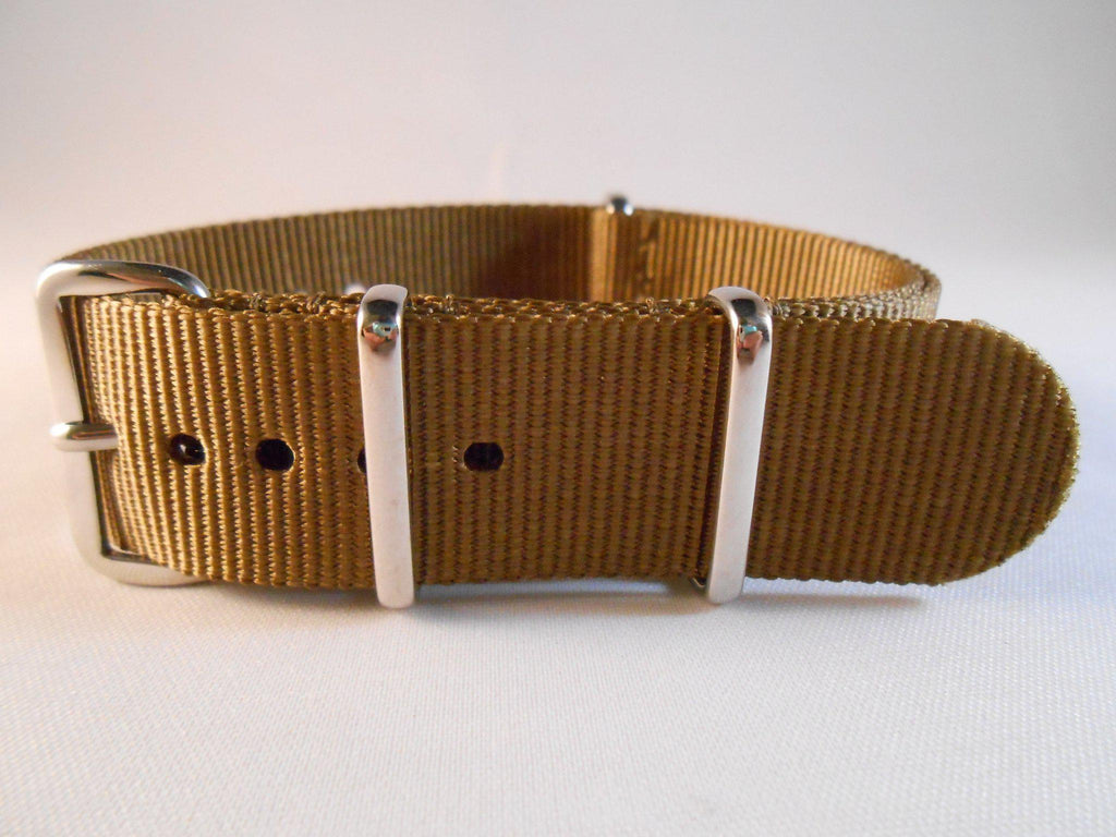 Extra Long Premium NATO Strap Golden Brown - Cheapest NATO Straps  - 1