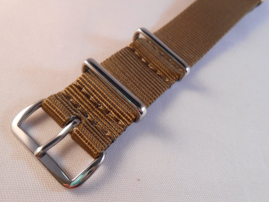 Extra Long Premium NATO Strap Golden Brown - Cheapest NATO Straps  - 2