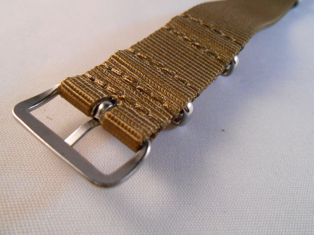 Extra Long Premium NATO Strap Golden Brown - Cheapest NATO Straps  - 3