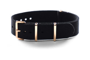 Rose Gold premium NATO Strap Black