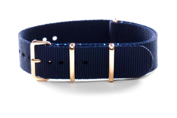 Rose Gold premium NATO Strap Navy