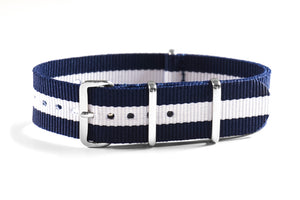 Premium NATO strap Navy and White