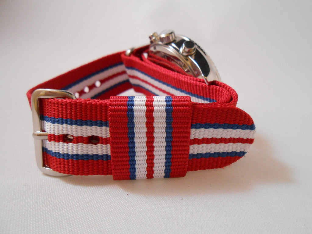 Premium Original NATO Strap Norway, Red, Blue and White - Cheapest NATO Straps  - 4