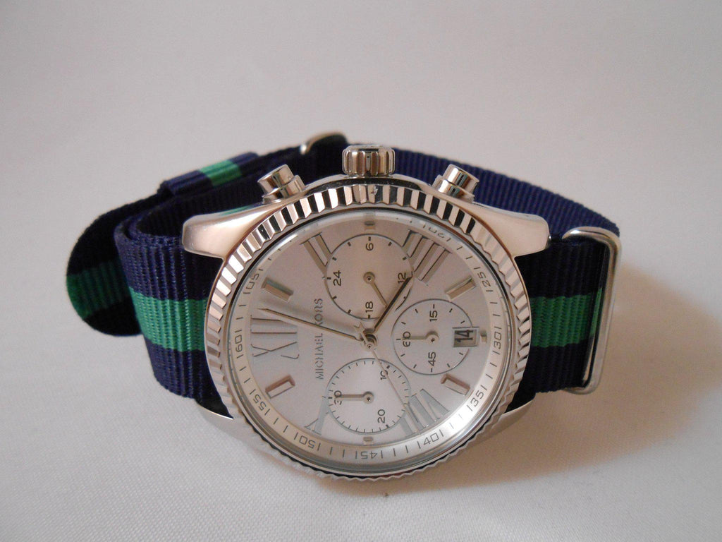 Premium Original NATO Strap Navy and Green - Cheapest NATO Straps  - 4