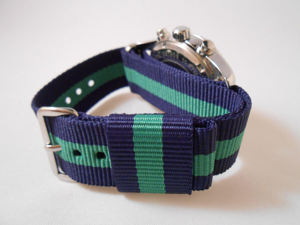 Premium Original NATO Strap Navy and Green - Cheapest NATO Straps  - 5