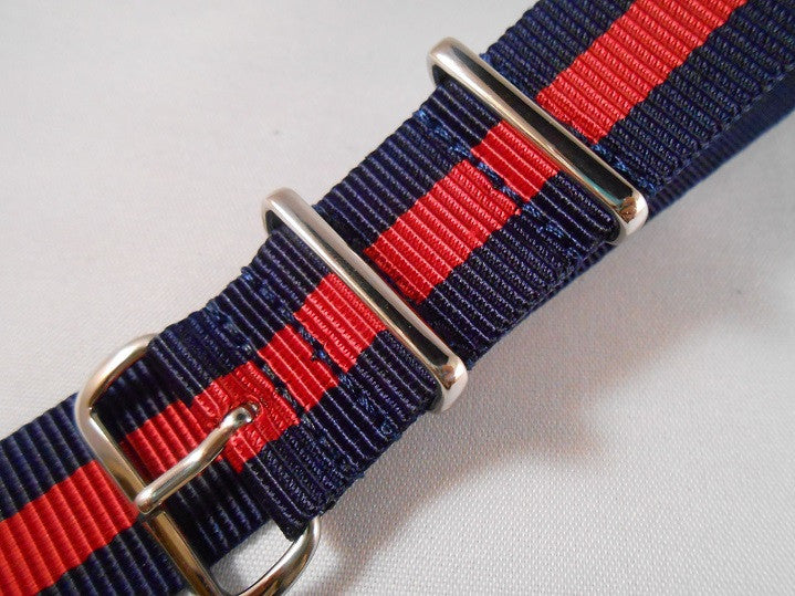 Extra Long Premium NATO strap Navy and Red - Cheapest NATO Straps  - 4
