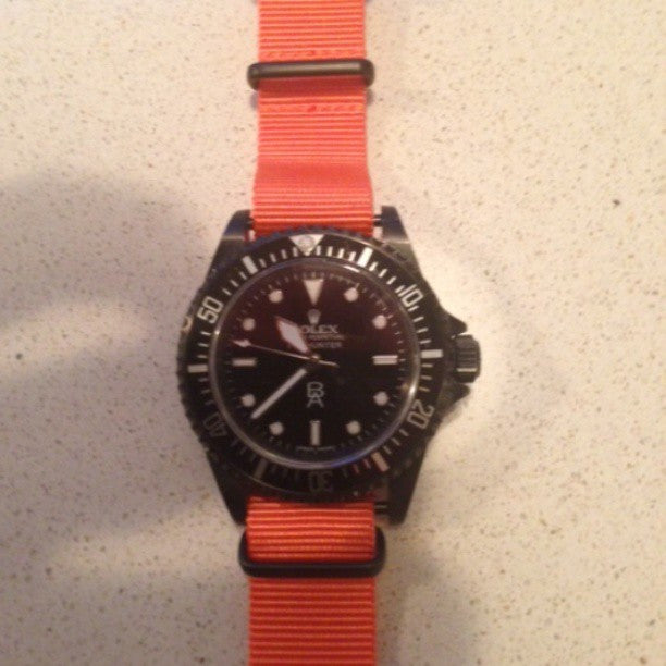 Extra Long PVD NATO Strap Orange - Cheapest NATO Straps  - 3
