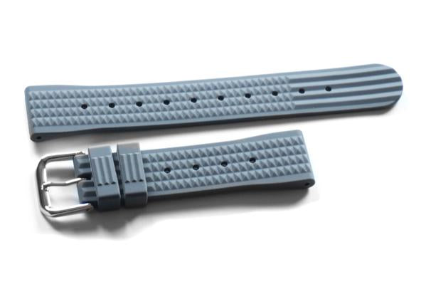 Rubber Waffle Strap Gray