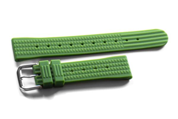 Rubber Waffle Strap Green