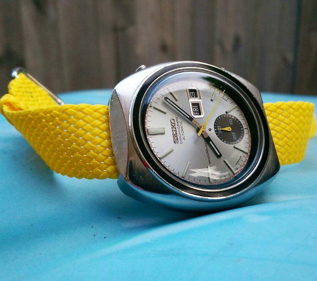 Perlon strap yellow