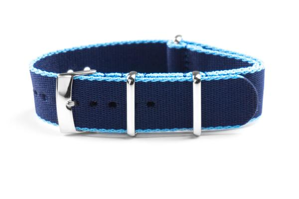 Seat Belt NATO Strap Navy and light blue