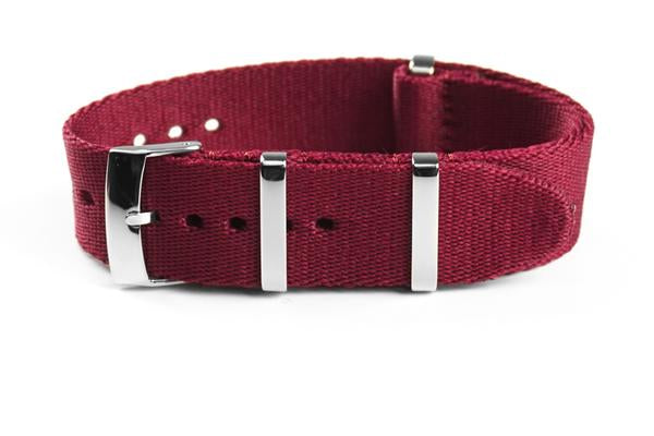 Deluxe Seat Belt NATO Burgundy (18 & 20 mm)