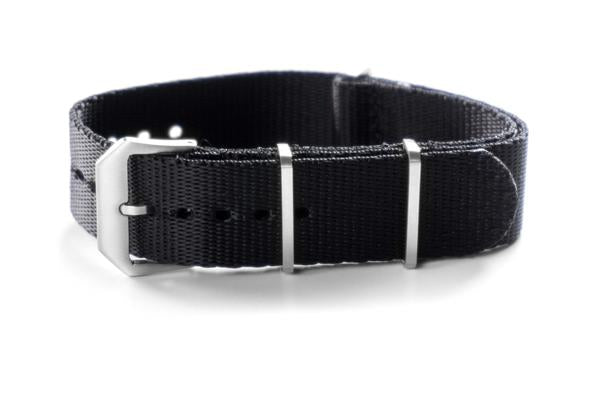 Heavy Duty Seat Belt NATO Strap Brushed Black