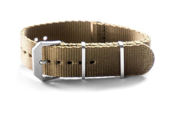 Heavy Duty Seat Belt NATO Strap Brushed Khaki