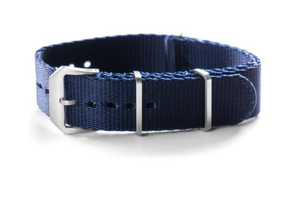 Heavy Duty Seat Belt NATO Strap Brushed Navy