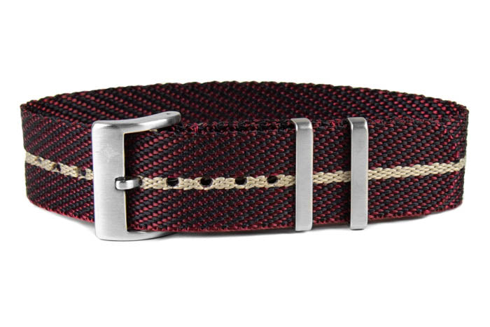 Single Pass Strap Burgundy and Barley