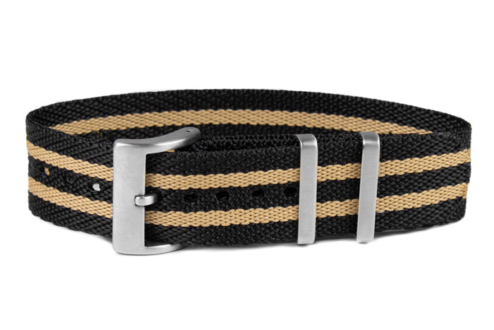 Single Pass Strap Black and Tan