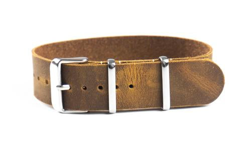 Single Pass Leather Strap Chocolate