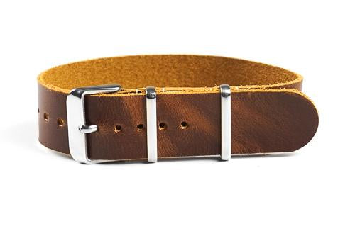 Single Pass Leather Strap Sienna (22 mm)