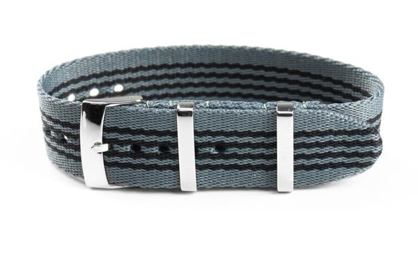Single Pass Seat Belt Strap Gray and Black (20 mm)