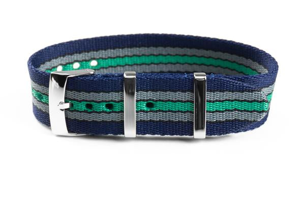 Single Pass Seat Belt Strap Navy Baron