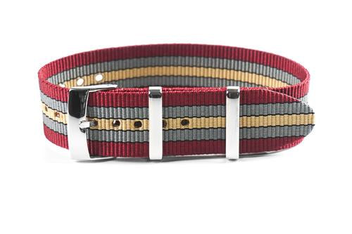 Single Pass Strap Burgundy Baron (18, 20, 21 & 22 mm)