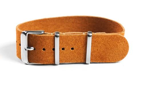 Single Pass Suede Strap Brown