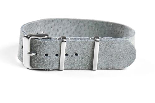 Single Layer Suede Strap Gray