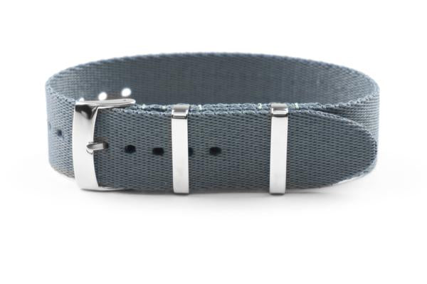 Single Pass Seat Belt Strap Gray