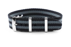 Single Pass Seat Belt Strap Black and Gray James Bond
