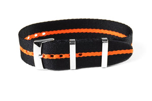 Single Pass Seat Belt Strap Scuba Orange (22 mm)