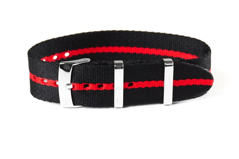Single Pass Seat Belt Strap Scuba Red (20 & 22 mm)