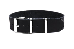 Single Pass Leather Strap Black