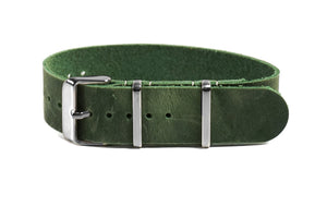 Single Pass Leather Strap British Racing Green