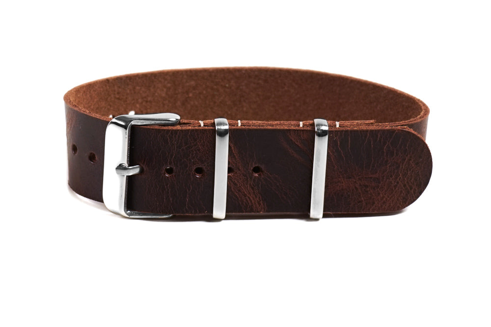 Single Pass Leather Strap Chestnut
