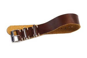 Single Pass Leather Strap Vintage Sienna