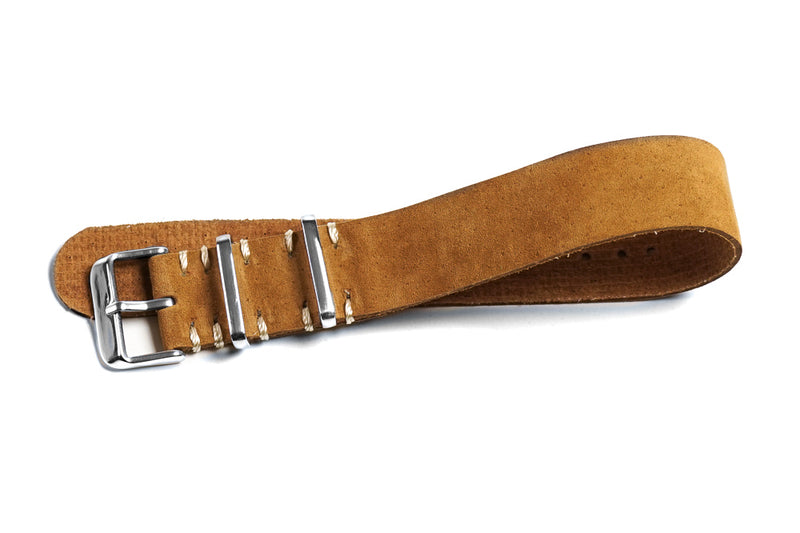 Single Pass Suede Strap Vintage Brown
