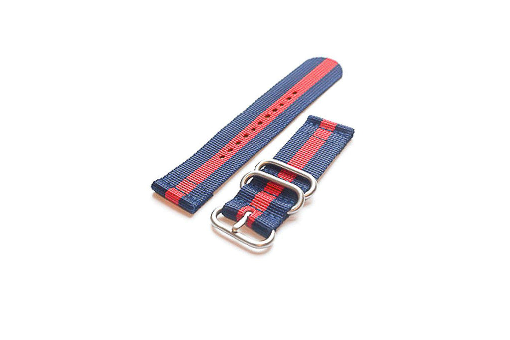 Smart Watch Strap Navy and Red - Cheapest NATO Straps  - 1