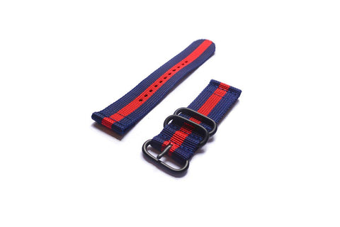 Smart Watch Strap PVD Navy and Red - Cheapest NATO Straps