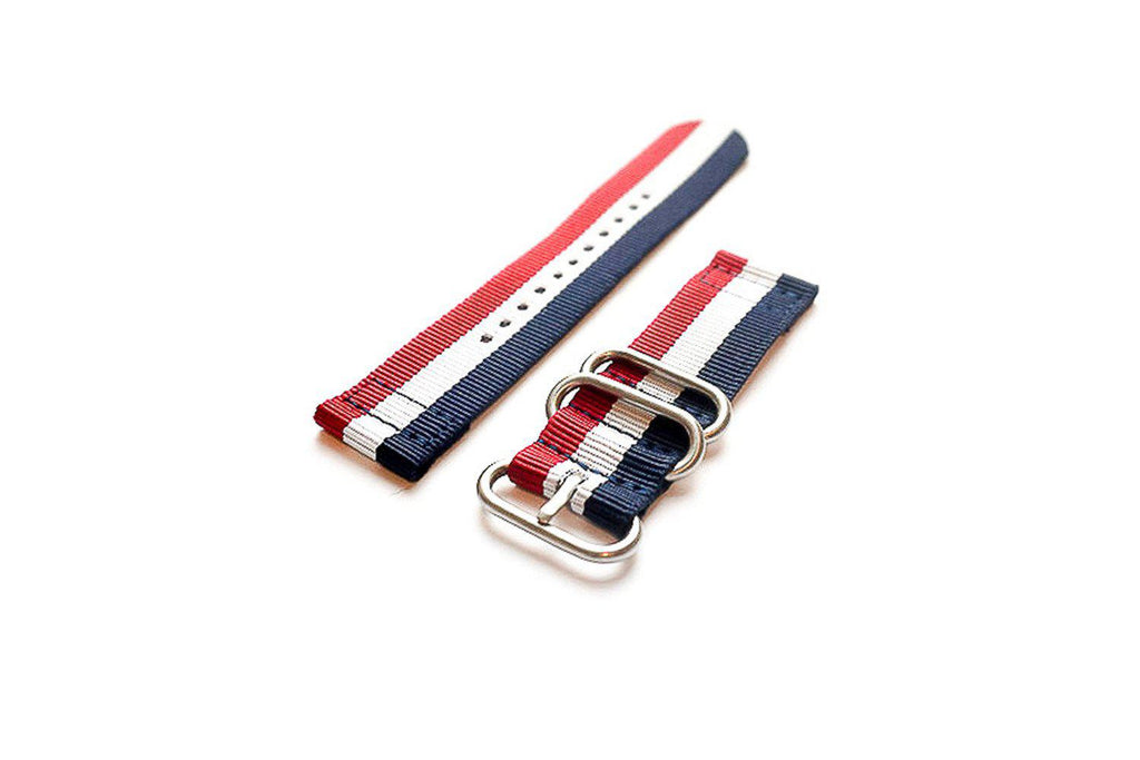 Smart Watch Strap Red White and Navy - Cheapest NATO Straps