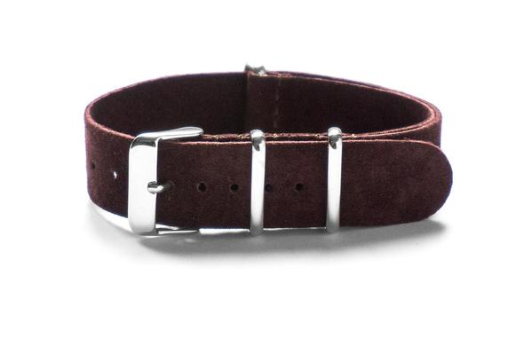 Suede NATO Strap Dark Brown