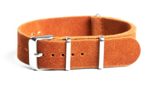 Suede NATO Strap Dirty Orange