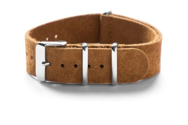 Suede NATO Strap Brown