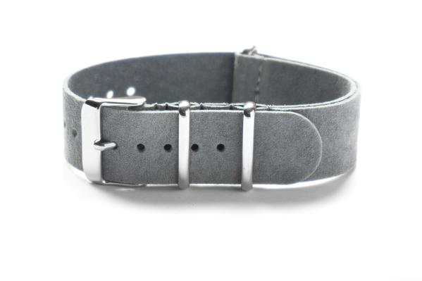 Suede NATO Strap Gray (18 & 22 mm)