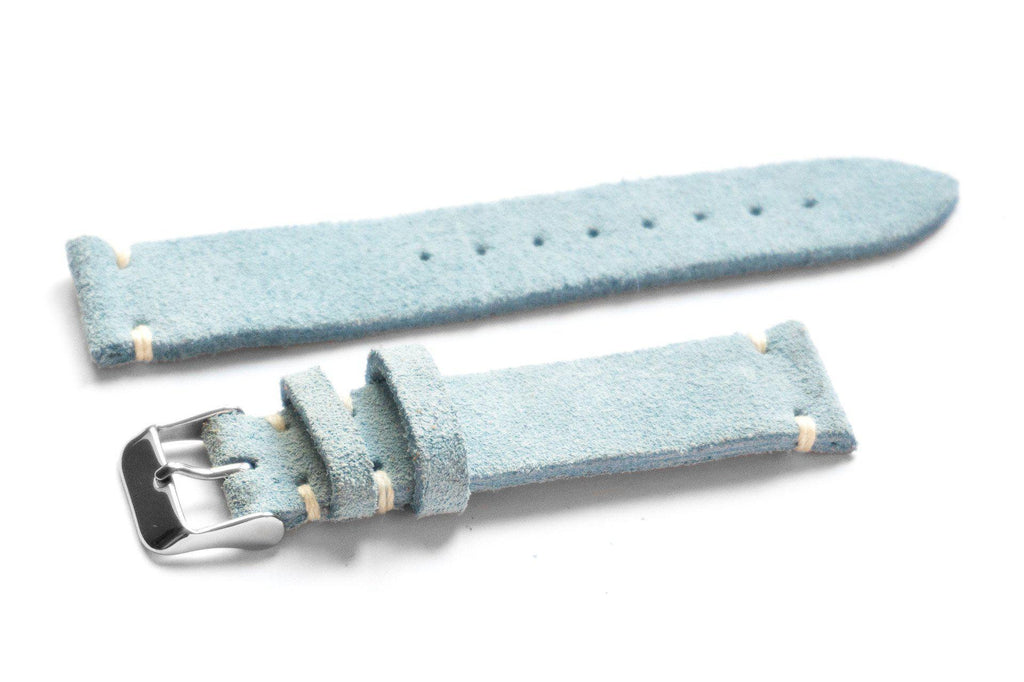 Kvarnsjö Suede Watchband Nordic Blue (22 mm)
